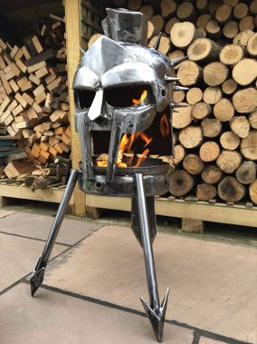 "GLADIATOR ""Husband to a murdered Wife, Father to a put out fire..."" The Gladiator outdoor Wood Burner."