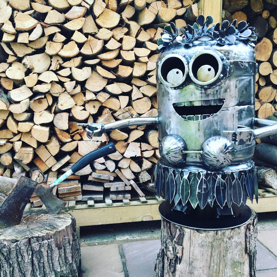 Hula Minion wood burner