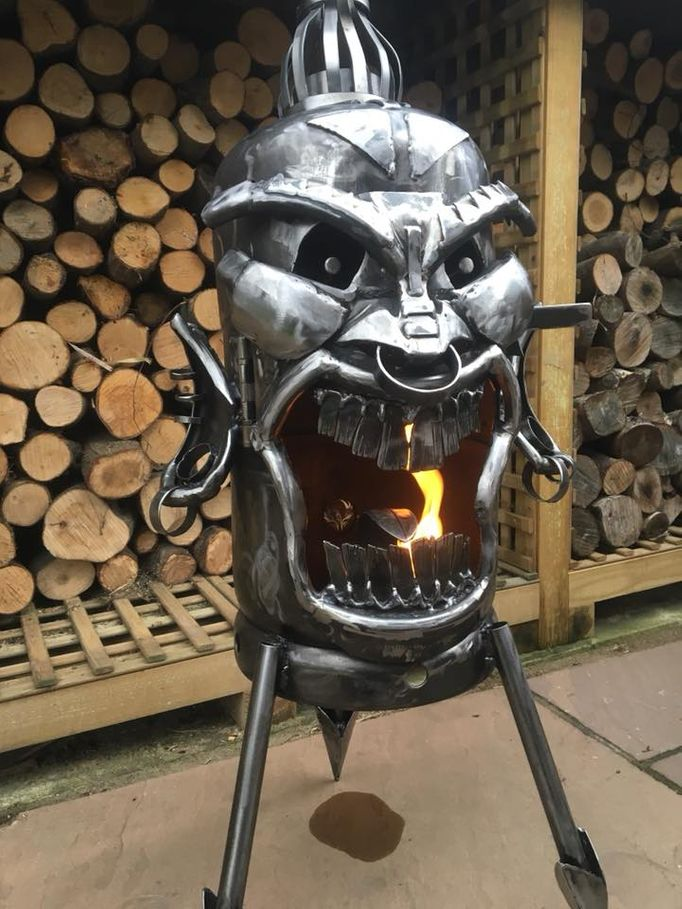 The Tiki Face Wood Burner