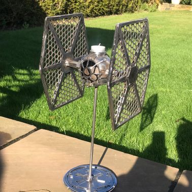 STAR WARS TIE FIGHTER CANDLE STICK