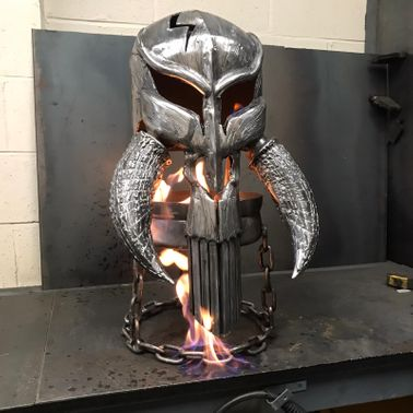 The Mandalorian Skull Wood Burner