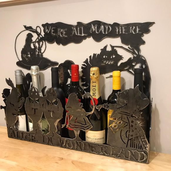 The Alice in Wonderland Wine Rack