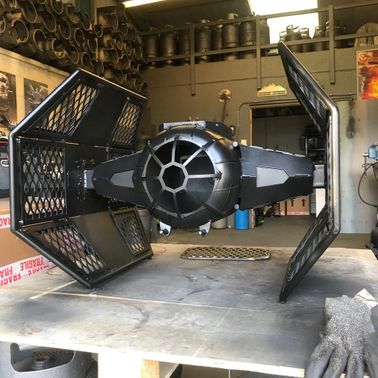 TIE FIGHTER FIRE PIT & GRILL