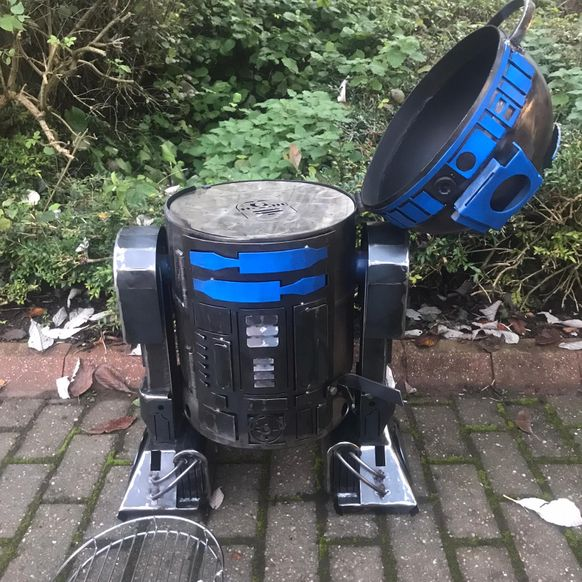 R2D2 WOOD BURNER AND PIZZA OVEN