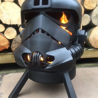TIE FIGHTER WOOD BURNER