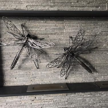 Metallic Dragonflies Sculpture