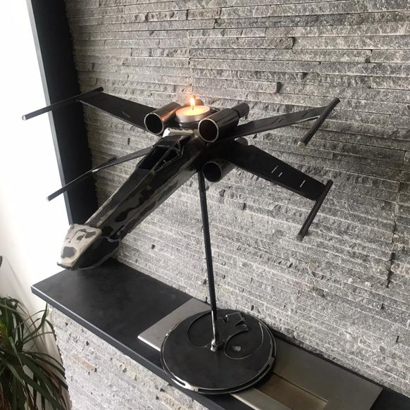 STAR WARS X WING CANDLESTICK