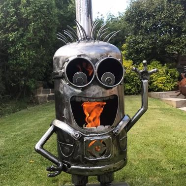 KEVIN THE MINION WOOD BURNER